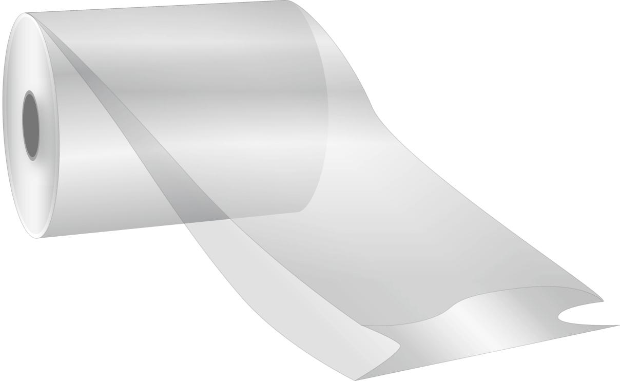 Seitenfaltenschlauchfolie auf Rolle